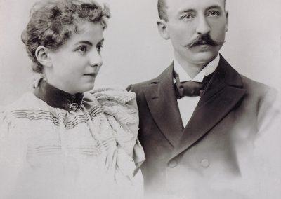 Carl Becker in jungen Jahren mit seiner Ehefrau Elisabeth