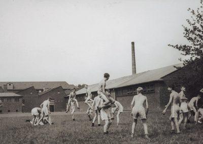 Sport war für die Mitarbeiter von Becker+Bernhard täglich Pflicht.